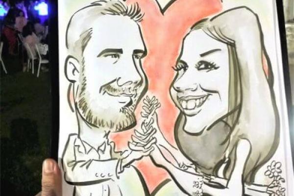 Skitso.biz - Soter Καρικατούρες για δεξίωση γάμου
